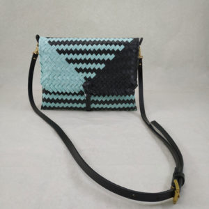 Clutch w/ Strap: Tiffany Blue & Black