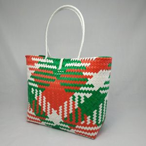 Tote Bag: White, Red & Green