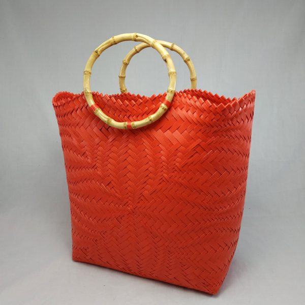 Bamboo Handle: Red